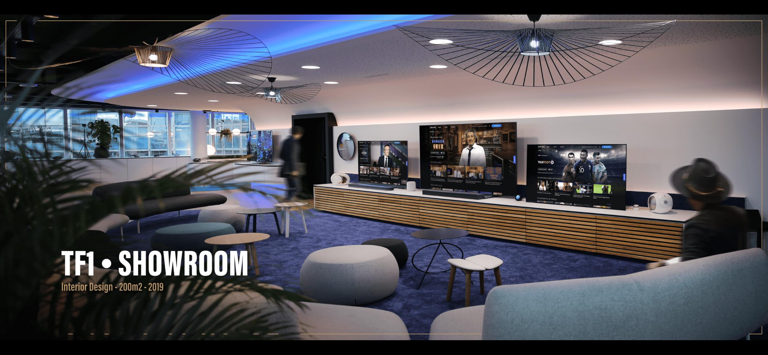 Conception et réalisation du Showroom de TF1